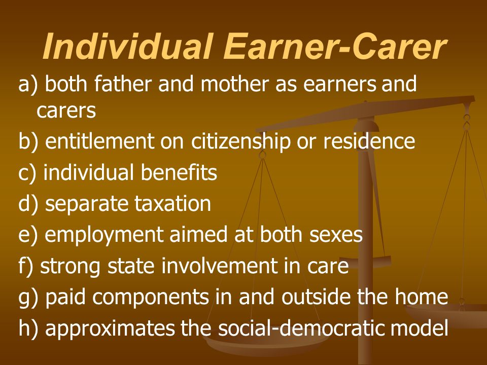 Individual Earner-Carer