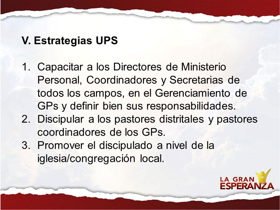 V. Estrategias UPS