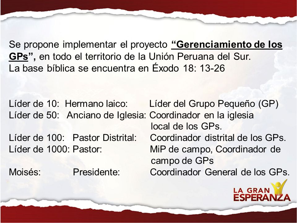 La base bíblica se encuentra en Éxodo 18: 13-26