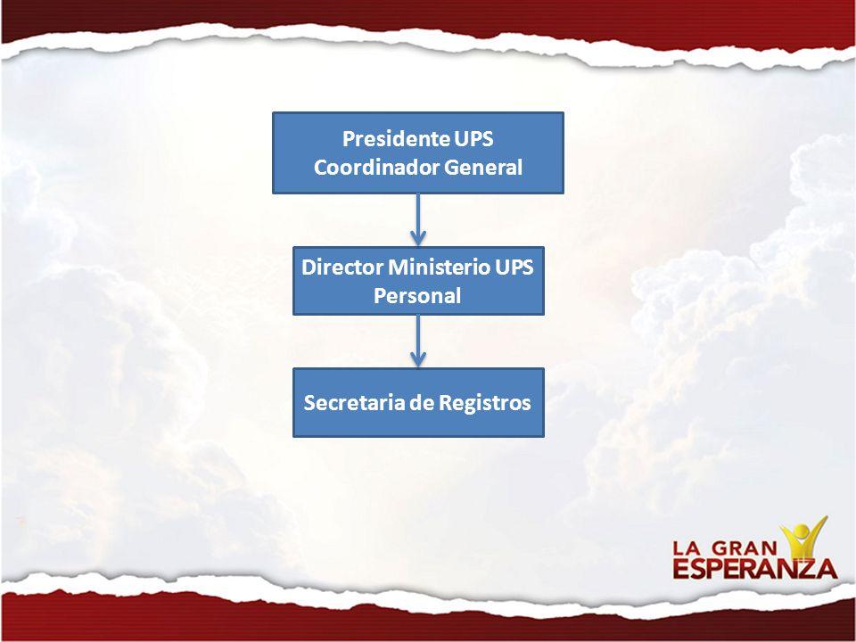 Director Ministerio UPS Personal Secretaria de Registros