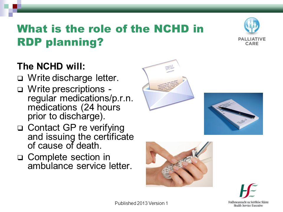 What is the role of the NCHD in RDP planning