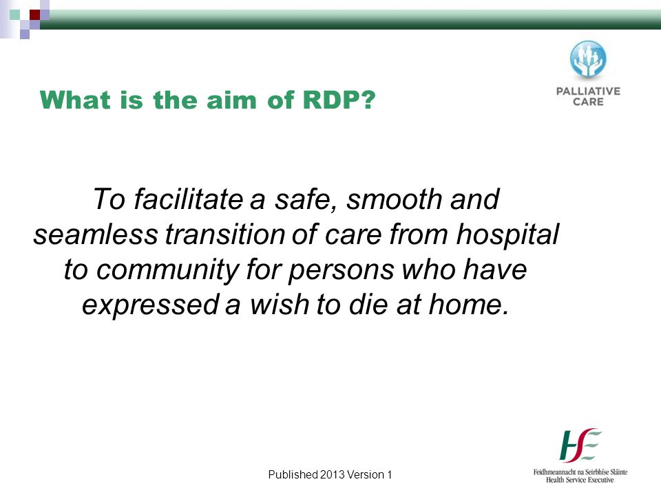 What is the aim of RDP