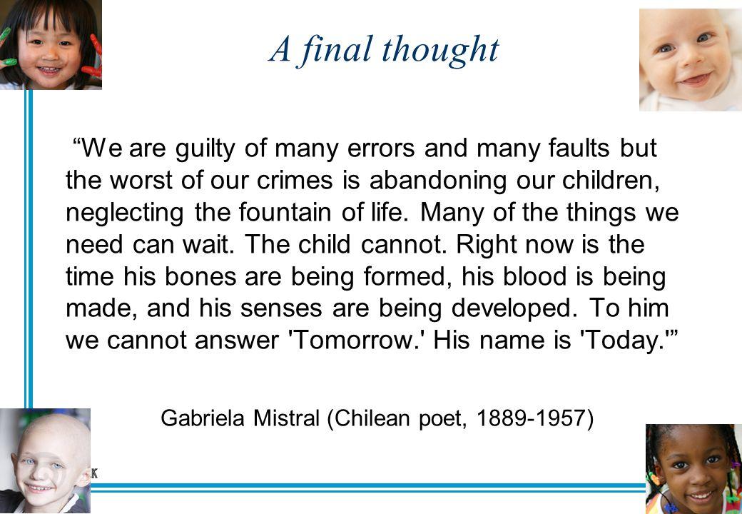 Gabriela Mistral (Chilean poet, 1889-1957)