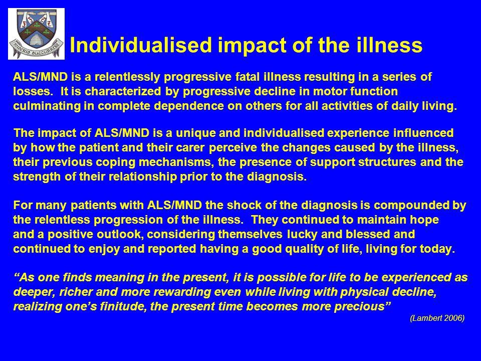 Individualised impact of the illness