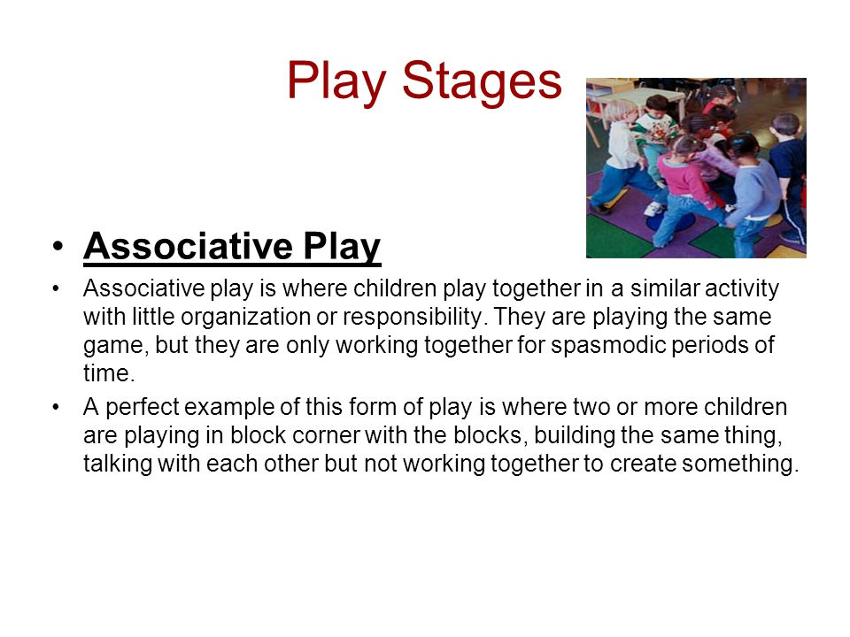 Play Stages Associative Play