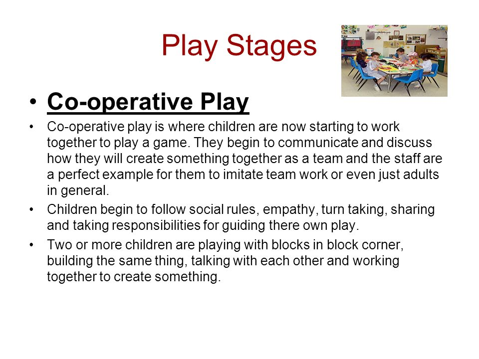 Play Stages Co-operative Play