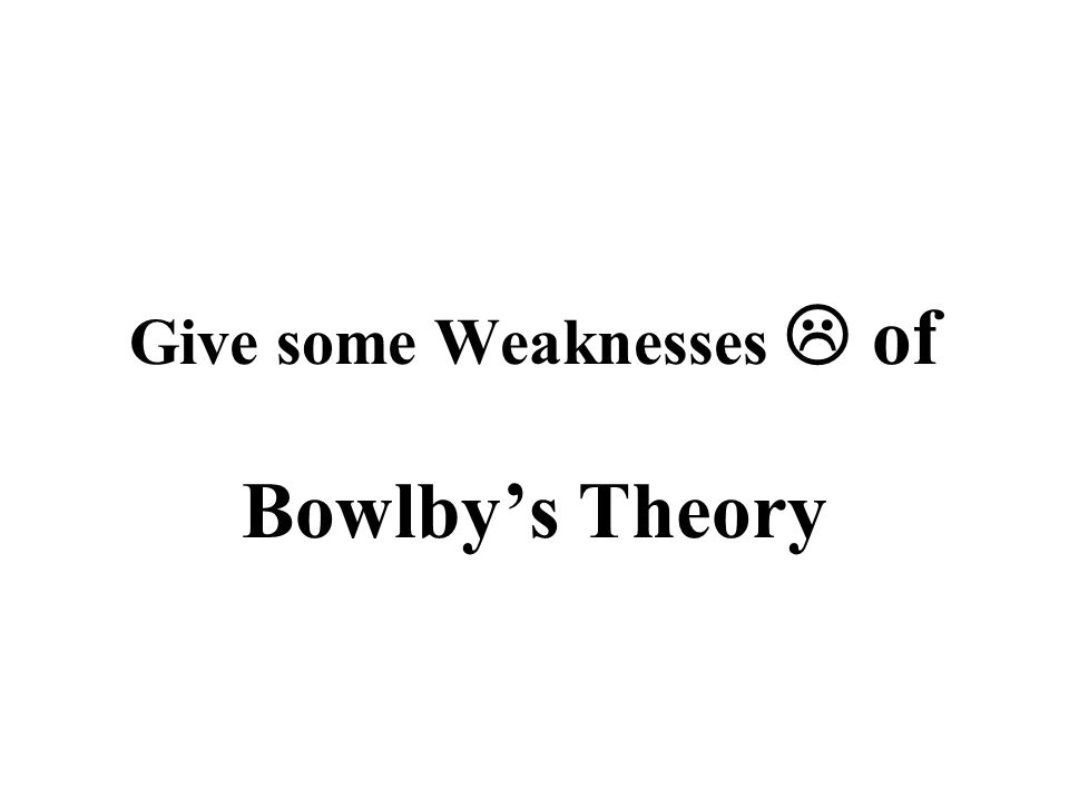 Give some Weaknesses  of