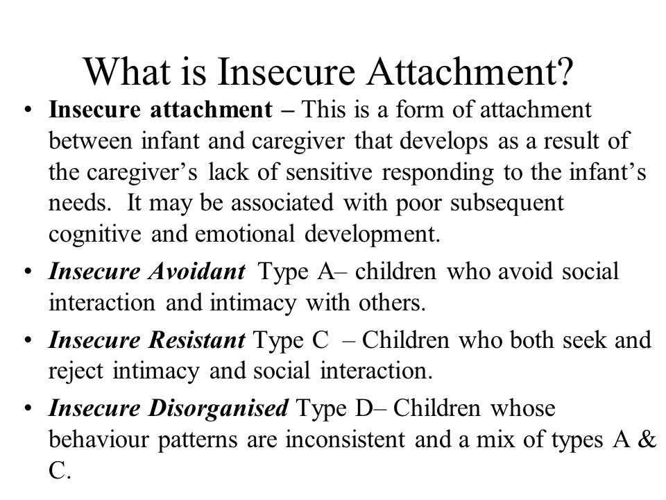 What is Insecure Attachment