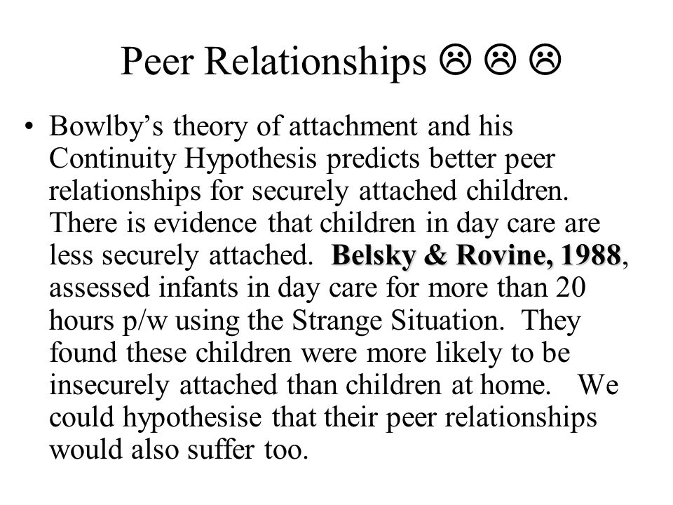 Peer Relationships   