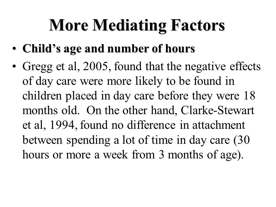 More Mediating Factors