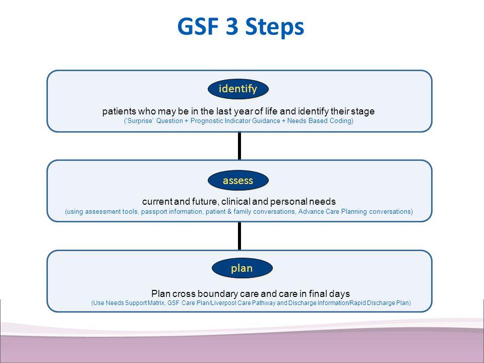 GSF 3 Steps identify assess plan