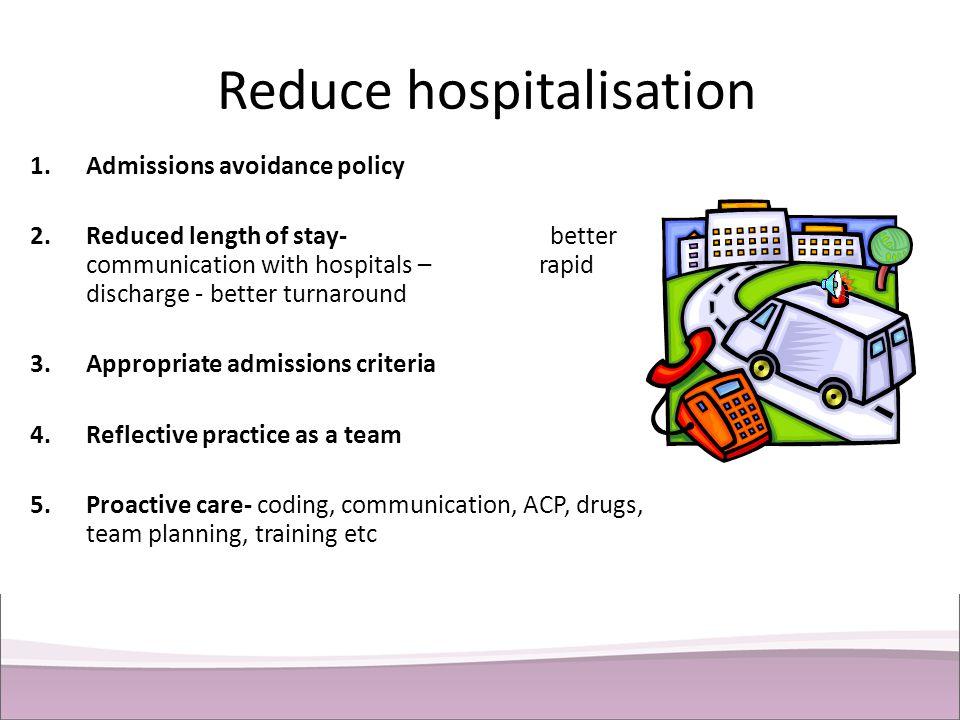 Reduce hospitalisation