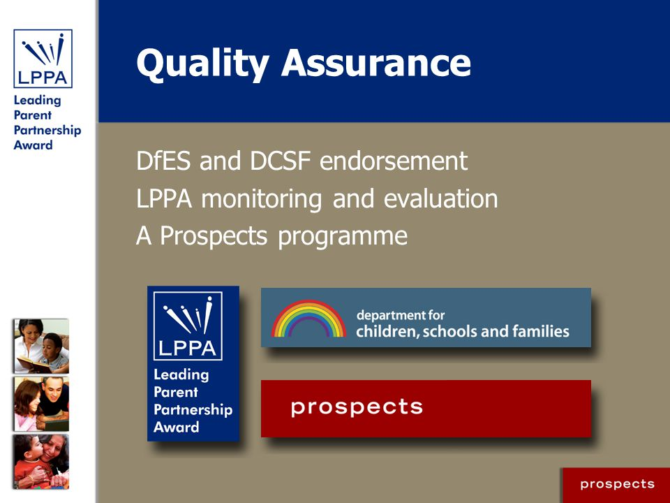 Quality Assurance DfES and DCSF endorsement