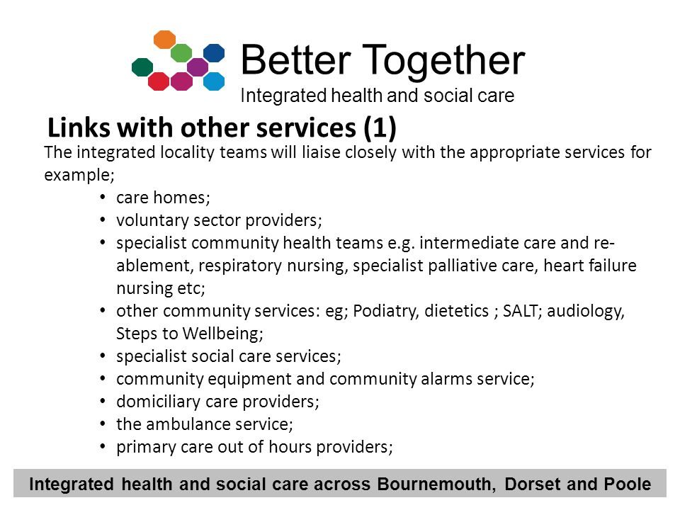 Links with other services (1)