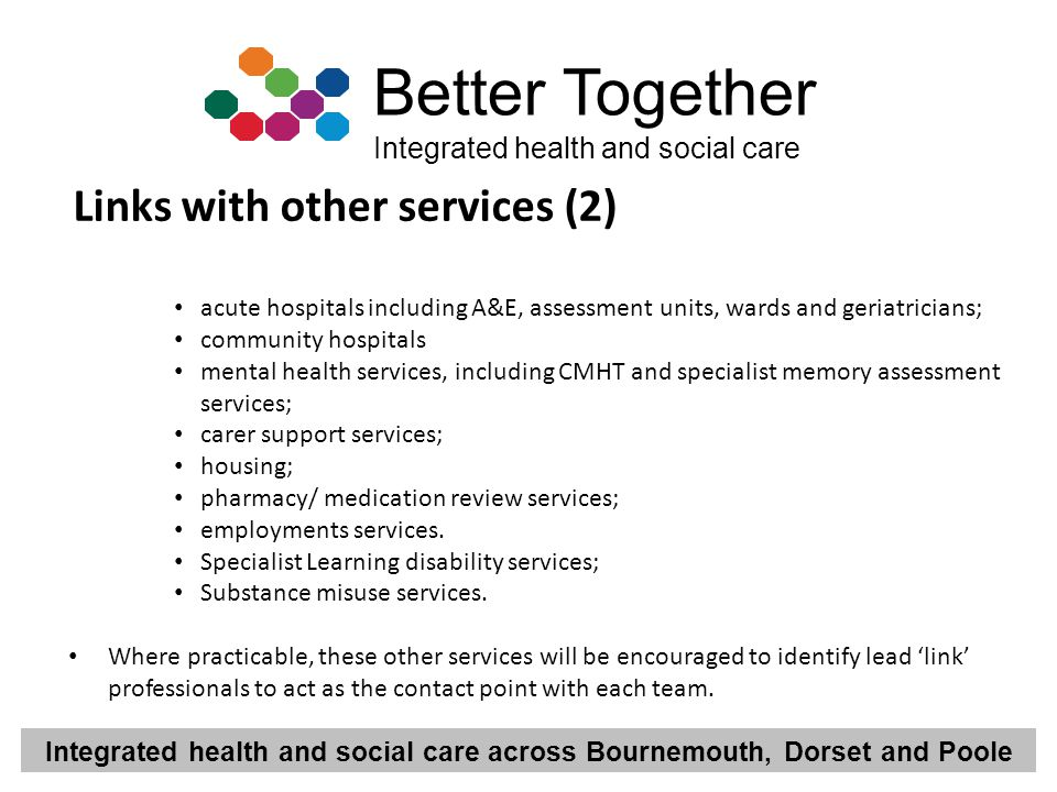 Links with other services (2)