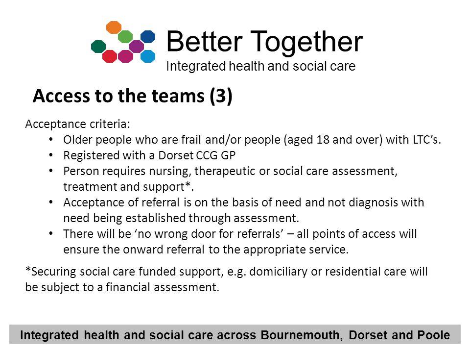 Access to the teams (3) Acceptance criteria: