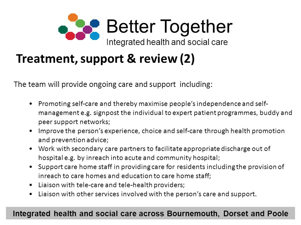 Treatment, support & review (2)