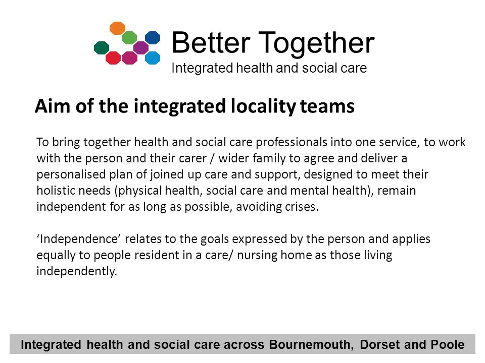 Aim of the integrated locality teams