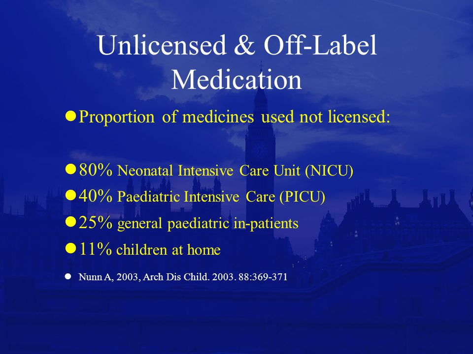 Unlicensed & Off-Label Medication