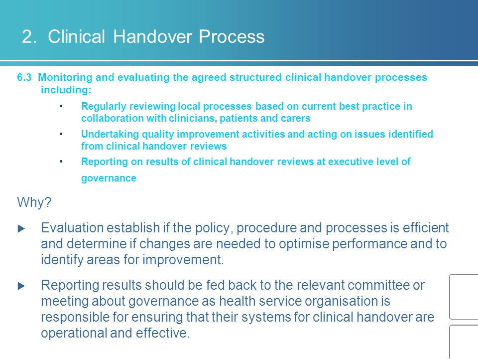 2. Clinical Handover Process