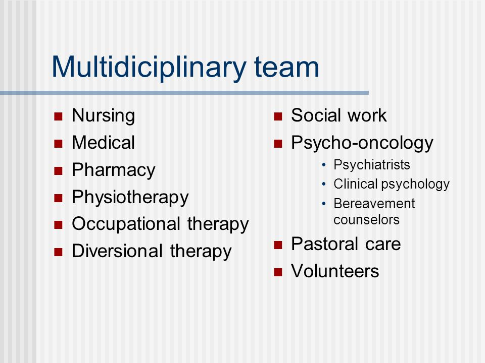 Multidiciplinary team