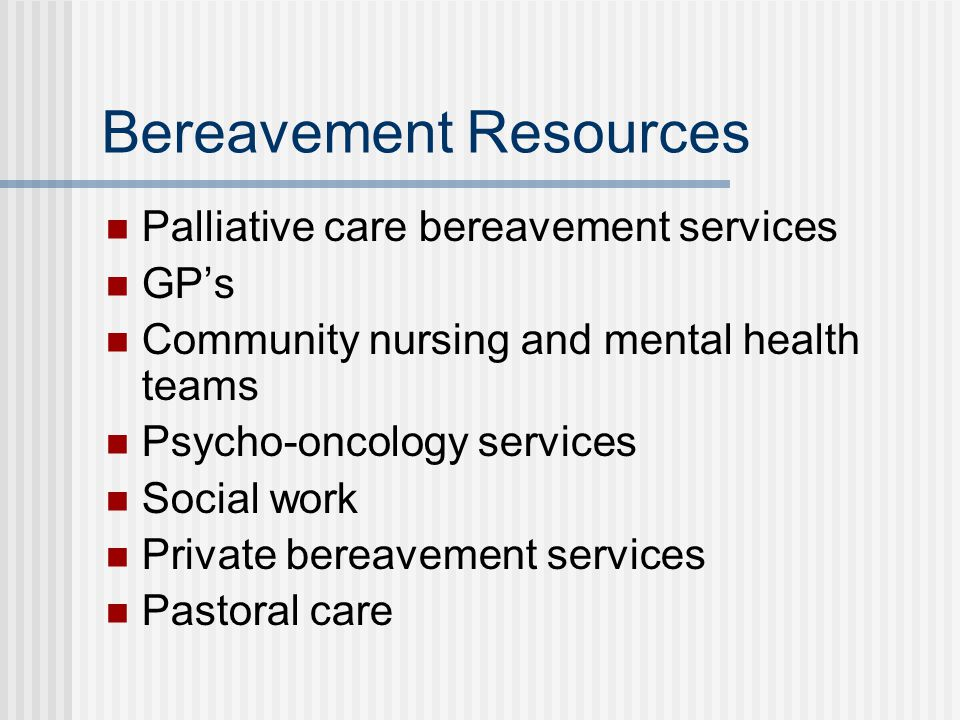 Bereavement Resources