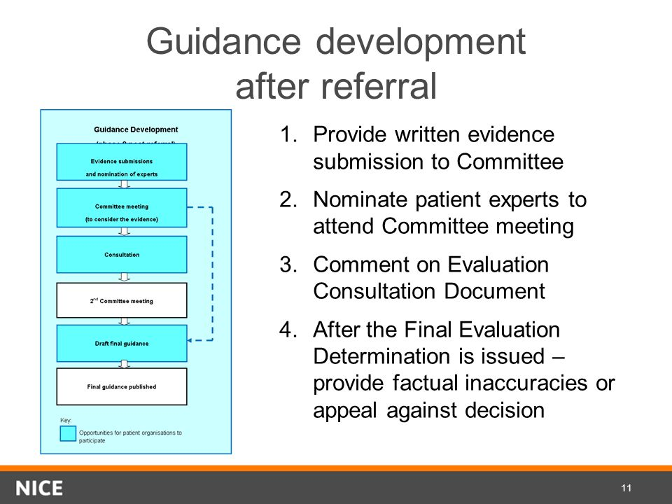 Guidance development after referral