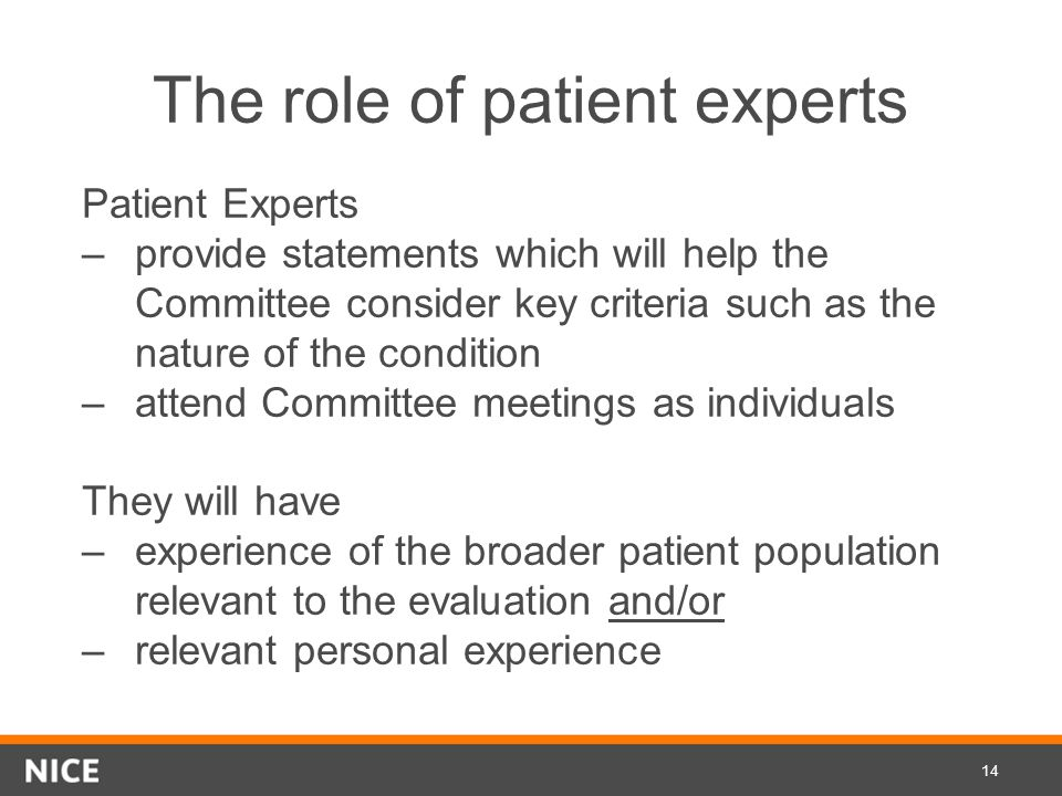 The role of patient experts