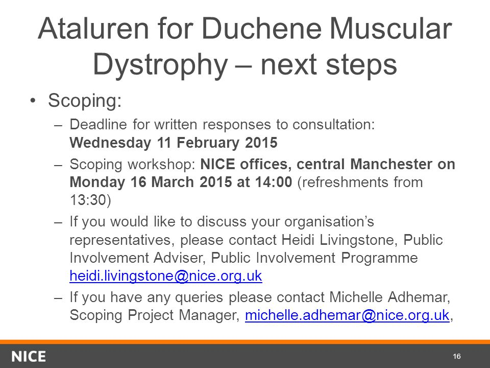 Ataluren for Duchene Muscular Dystrophy – next steps