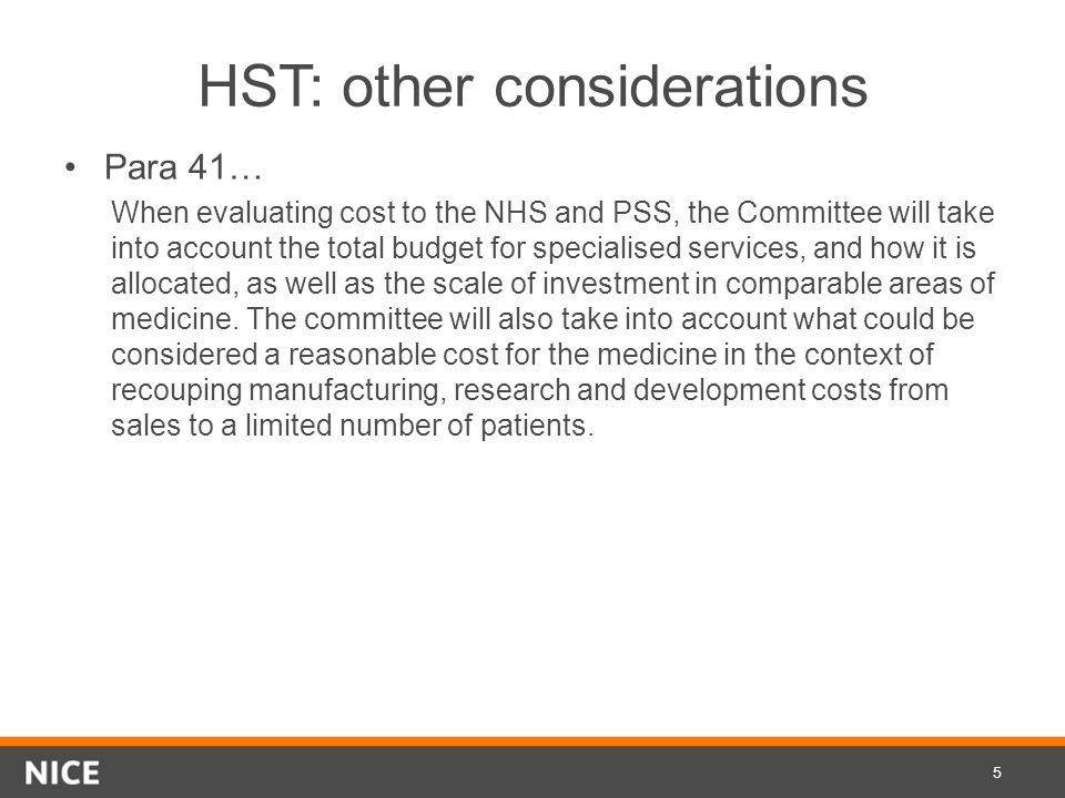 HST: other considerations