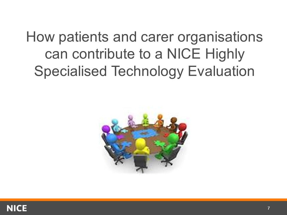 How patients and carer organisations can contribute to a NICE Highly Specialised Technology Evaluation