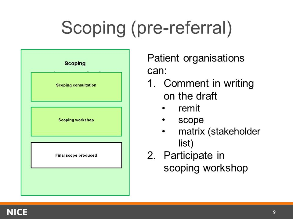 Scoping (pre-referral)