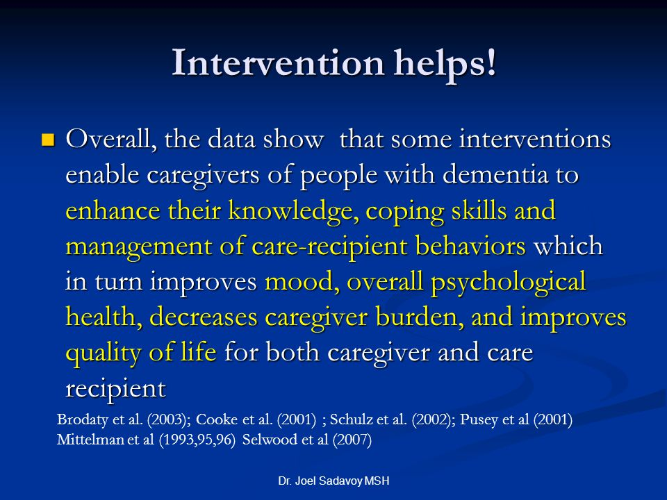 Intervention helps!