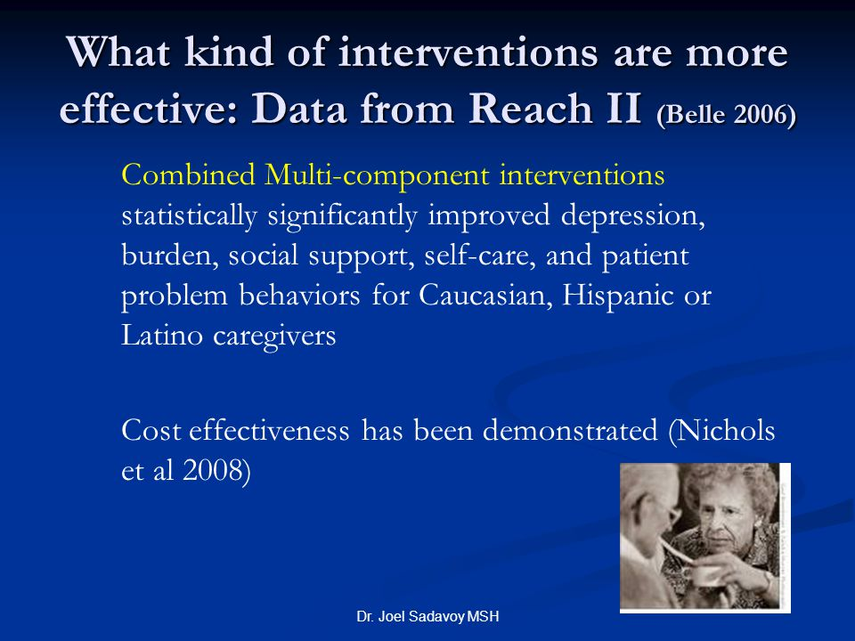 What kind of interventions are more effective: Data from Reach II (Belle 2006)