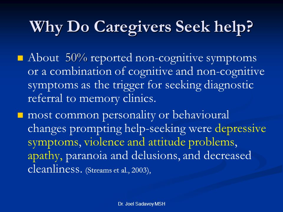 Why Do Caregivers Seek help