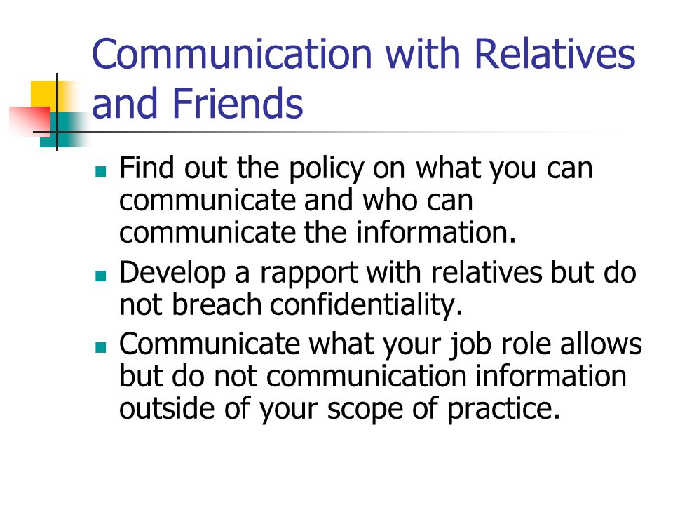 Communication with Relatives and Friends
