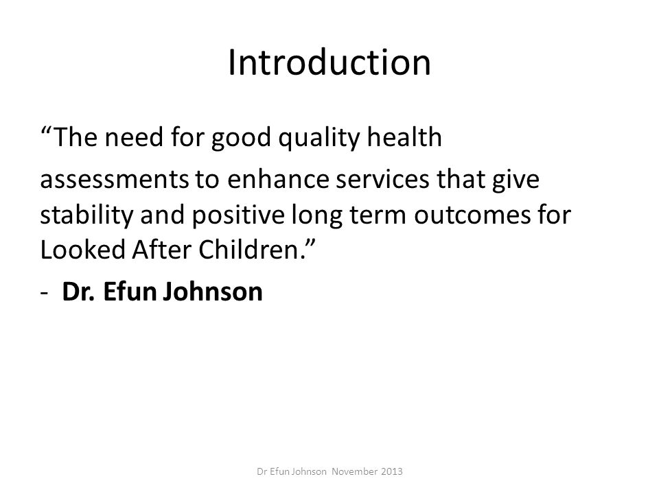 Dr Efun Johnson November 2013