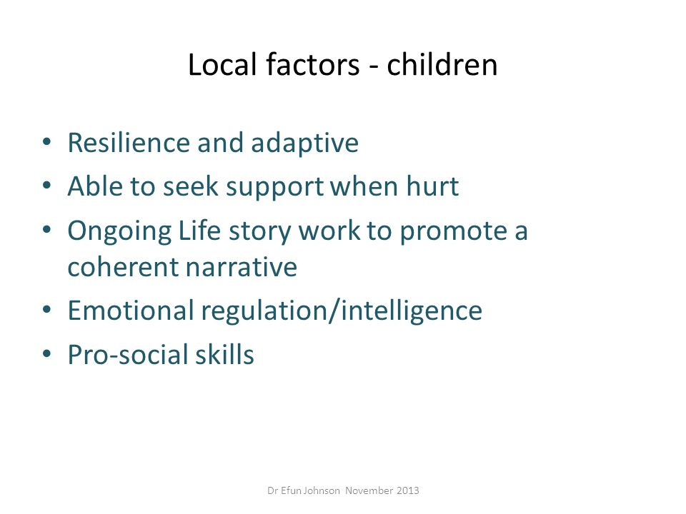 Local factors - children