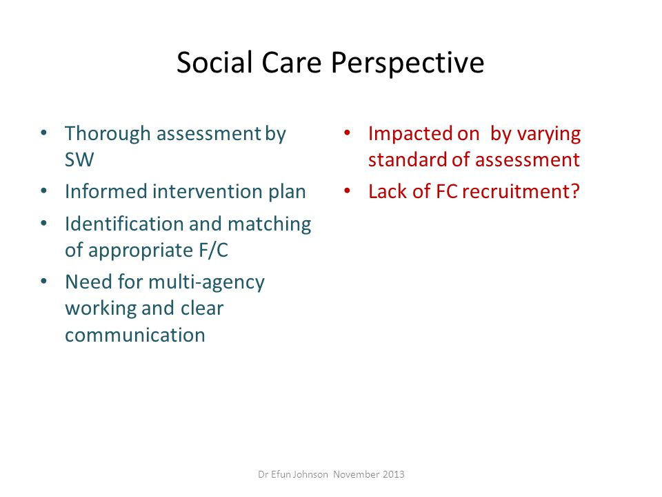 Social Care Perspective