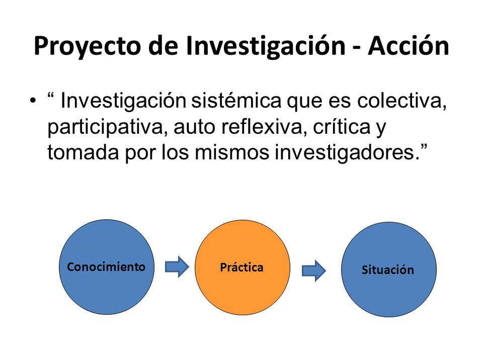 Proyecto de Investigación - Acción
