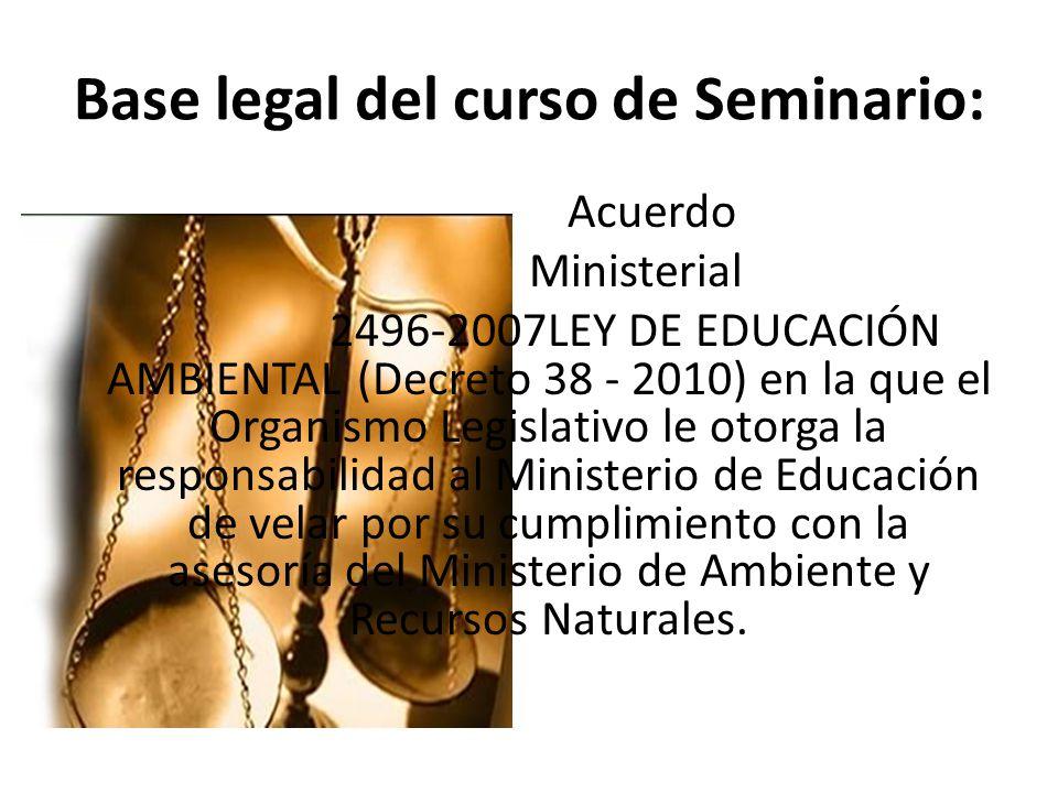Base legal del curso de Seminario: