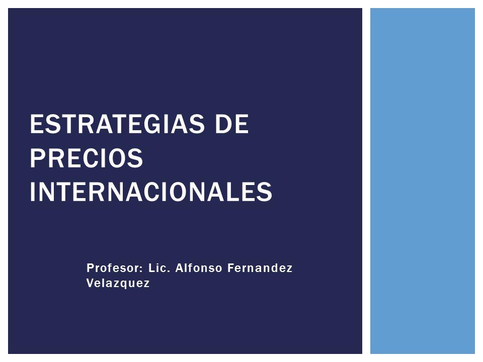 Estrategias de precios Internacionales