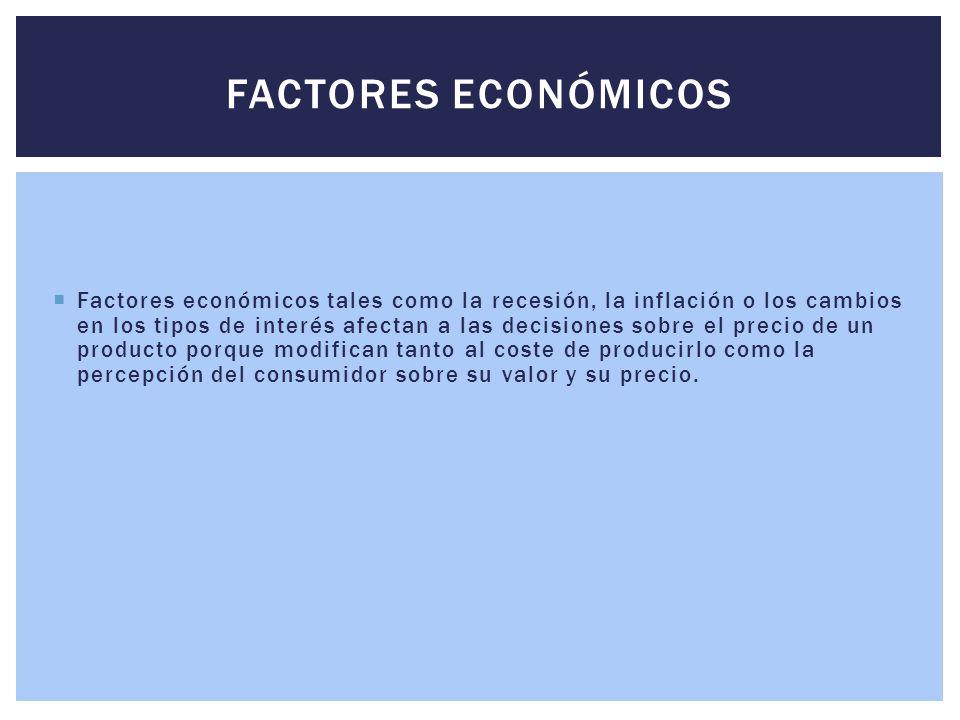FACTORES ECONÓMICOS