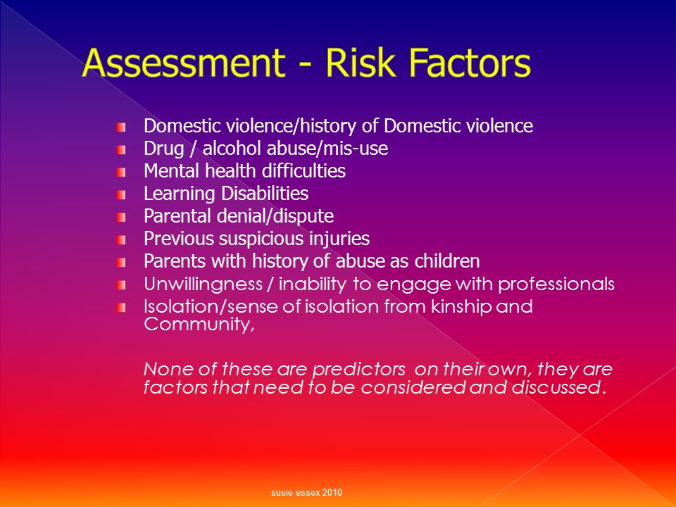 Assessment - Risk Factors