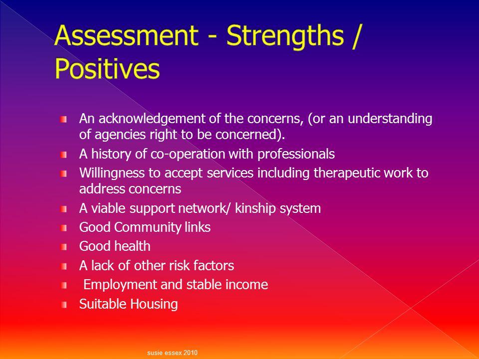Assessment - Strengths / Positives