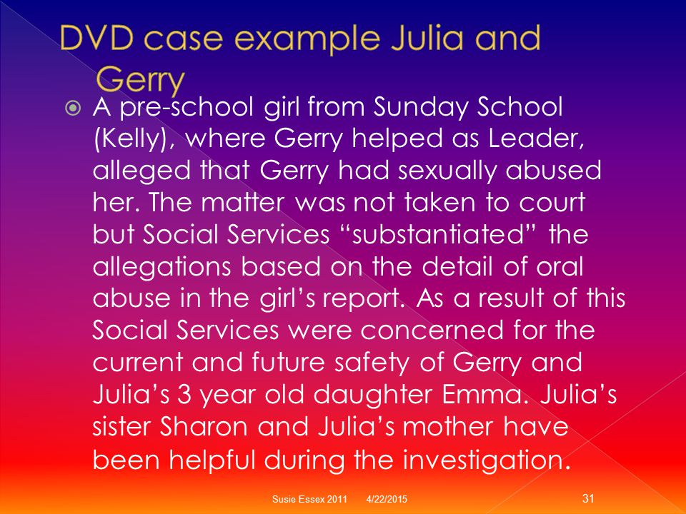 DVD case example Julia and Gerry