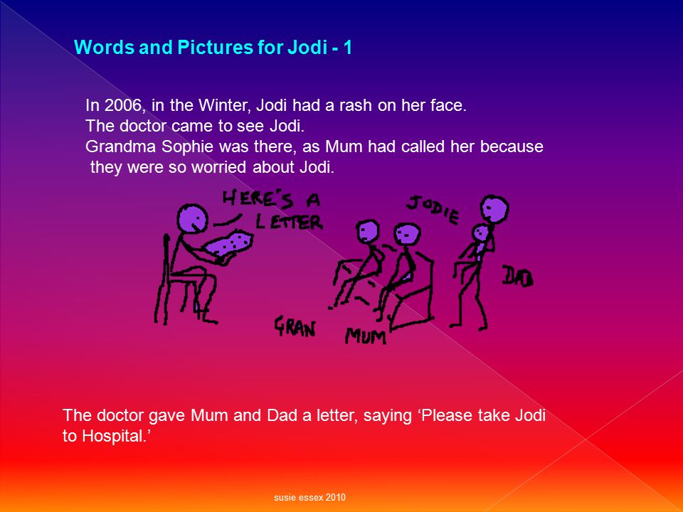 Words and Pictures for Jodi - 1