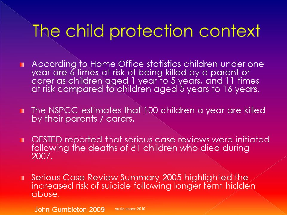 The child protection context