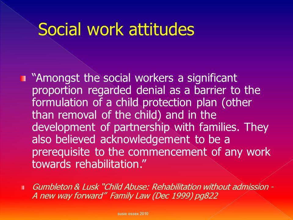 Social work attitudes