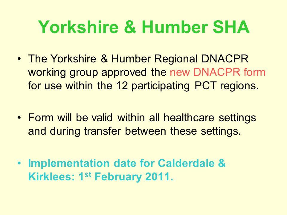 Yorkshire & Humber SHA